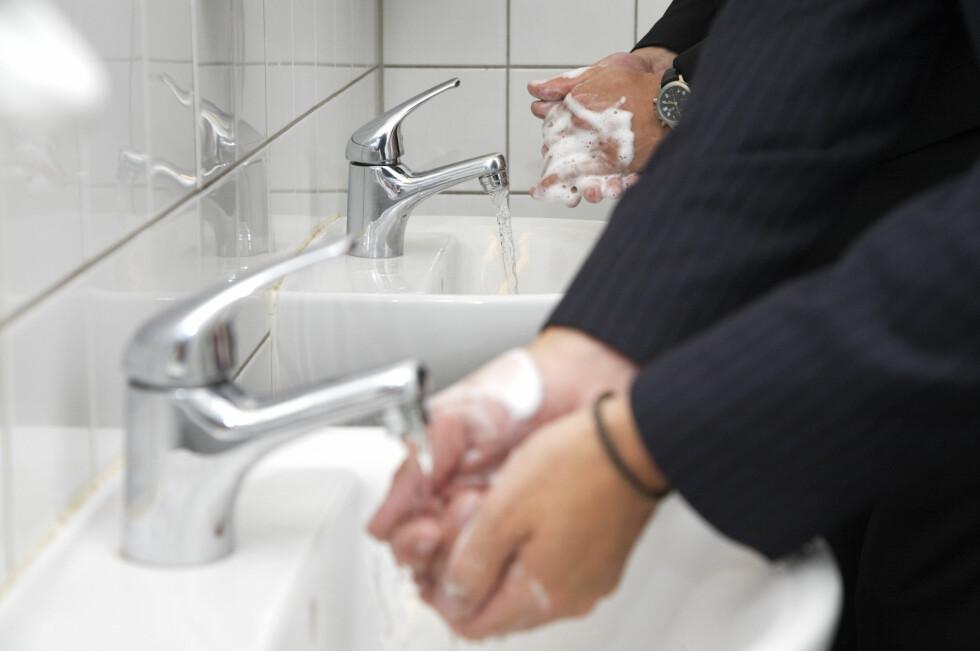 God håndhygiene er et viktig våpen i kampen mot influensaen.  Foto: arkivfoto