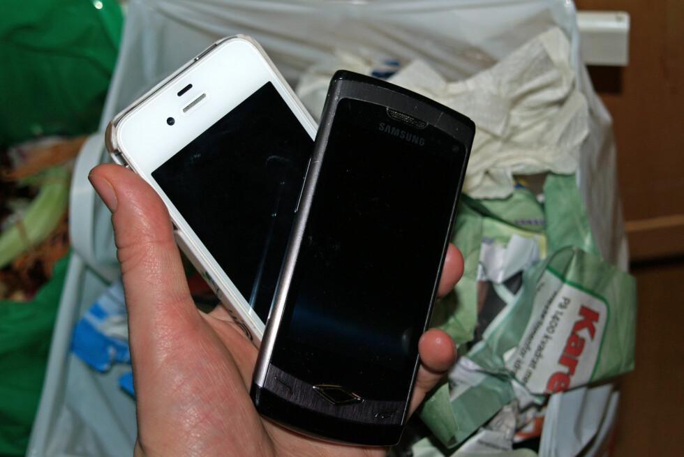 Mobiltelefoner som ikke lenger er i bruk, skal ikke i søpla!       Foto: Berit B. Njarga