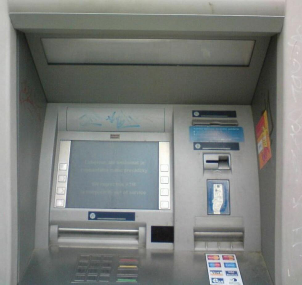 Det kan se ut som en vanlig minibank...