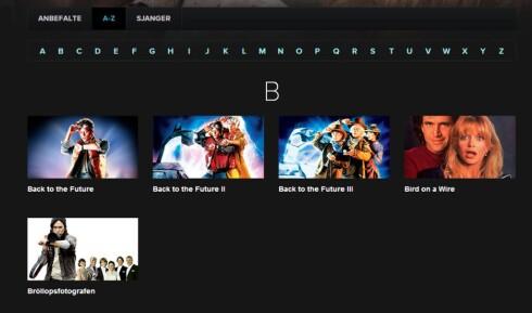 Fem filmer på B? Dette er tynt. Foto: Øyvind P