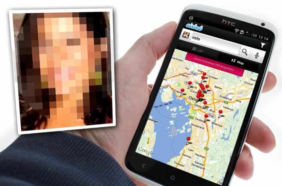 MISBRUKES: Airbnb lar deg finne steder å bo over hele verden, for eksempel via mobilen. Men ikke alle har det samme ærendet. En kvinne som leide en leilighet i Oslo brukte den mest trolig til prostitusjon. Foto: Ole Petter Baugerød Stokke/Airbnb.no