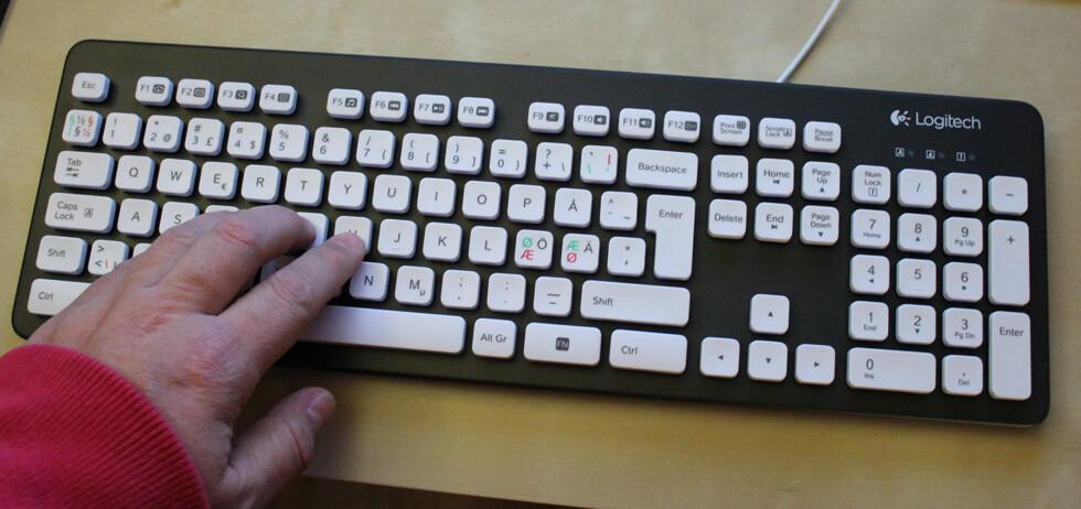 Det kan virke litt institusjonelt, men er absolutt et bra tastatur, mener vår testansvarlige. Foto: Bjørn Eirik Loftås