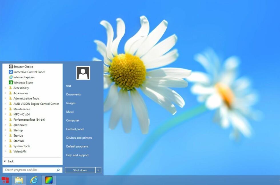 StartW8 er gratis, i motsetning til mange av de andre startmenyene for Windows 8. Og den fungerer faktisk meget bra.