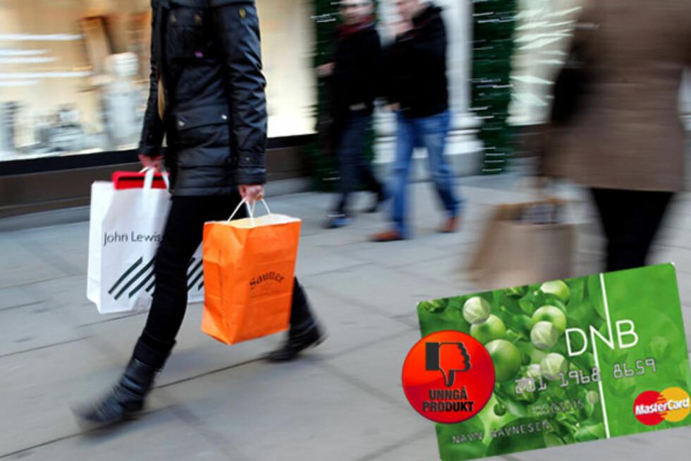 Bare tull: Skal du gi bort en pengegave til jul, finnes det utvilsomt bedre alternativer enn MasterCard gavekort fra DNB. Gi heller bort kontanter eller sett et beløp rett inn på sparekonto.   Foto: Tuva Moflag