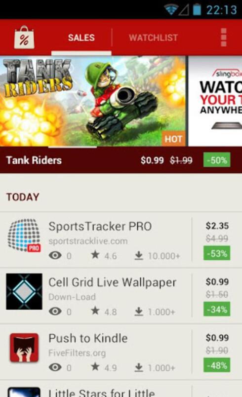 Bli varslet om app-tilbud