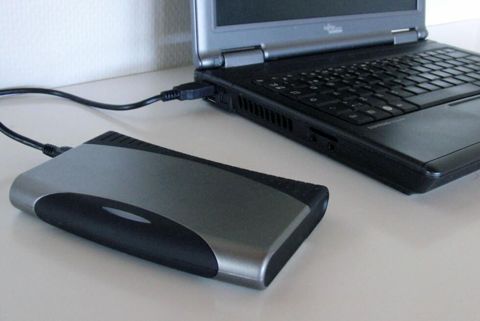 Den enkleste måten å øke lagringskapasiteten på er å bruke en ekstern harddisk. Men det finnes alternativer. Foto: Bjørn Eirik Loftås