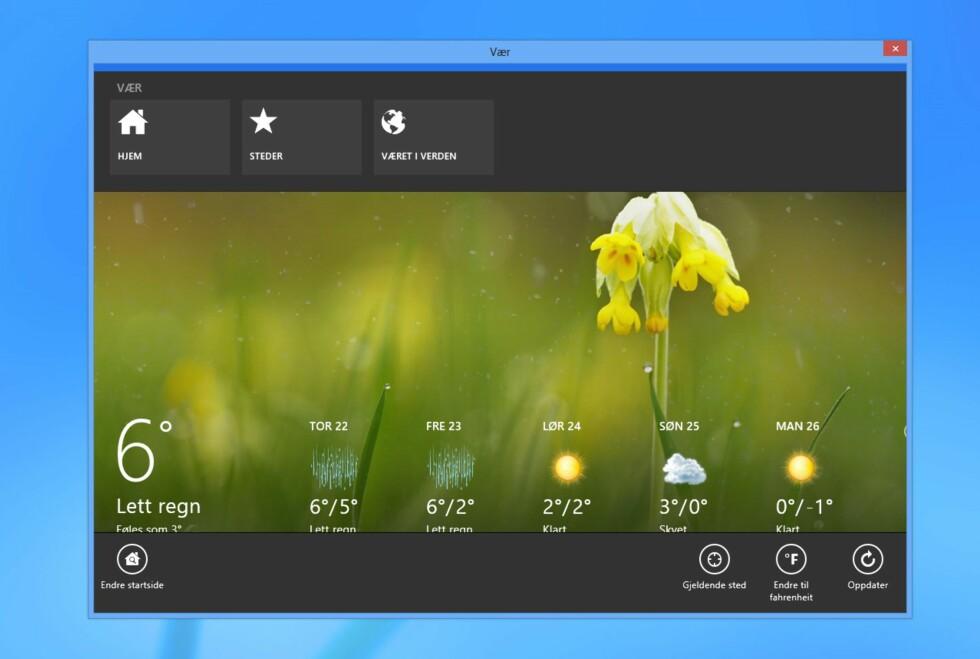 Med retroUI kan du kjøre Windows 8-apper i vinduer, og du kan lukke dem på vanlig Windows-vis. Foto: BEL i DinSide.no