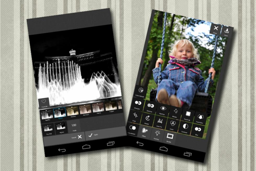 Med gratis-appen Pixlr Express for Android, kan du velge blant et hav av effekter å legge på bildene dine.