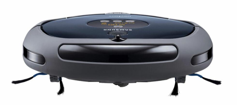 Støvsugerroboten Navibot fra Samsung er en av flere modeller som er testet på DinSide. Foto: Produktbilde