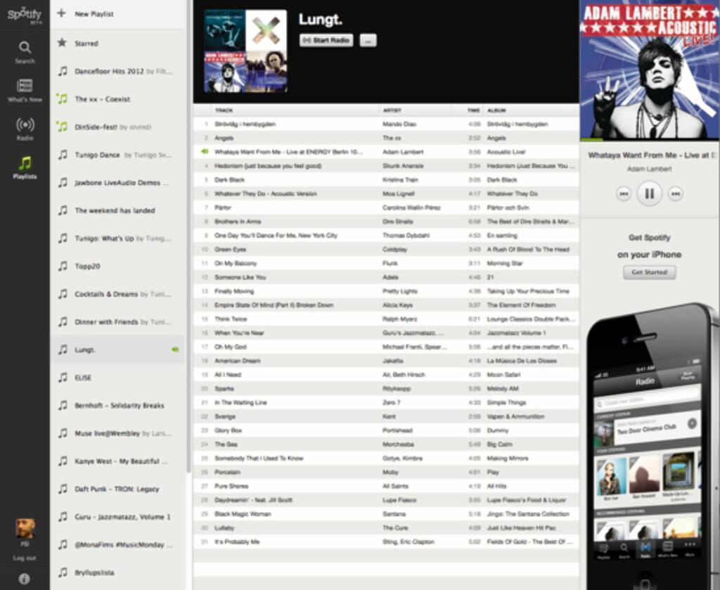 image: Spotify i nettleseren!