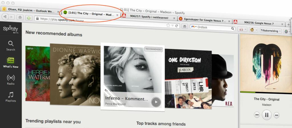 Spotify har åpnet betautgaven sin webbaserte musikkspiller.