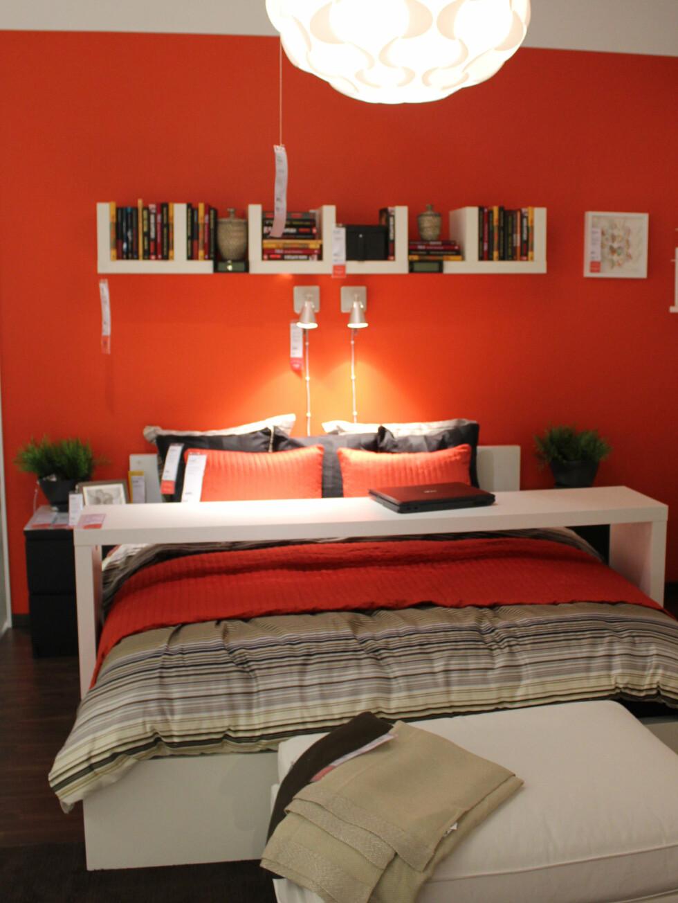 Med prislappen på? Også møbelkjedene lar seg inspirere av hotellrom, her en utstilling på Ikea. Foto: Elisabeth Dalseg