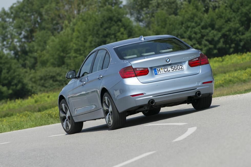 Kvikkas uten henger: BMW ActiveHybrid 3 går som ei kule, men kan ikke dra tilhenger. Foto: BMW