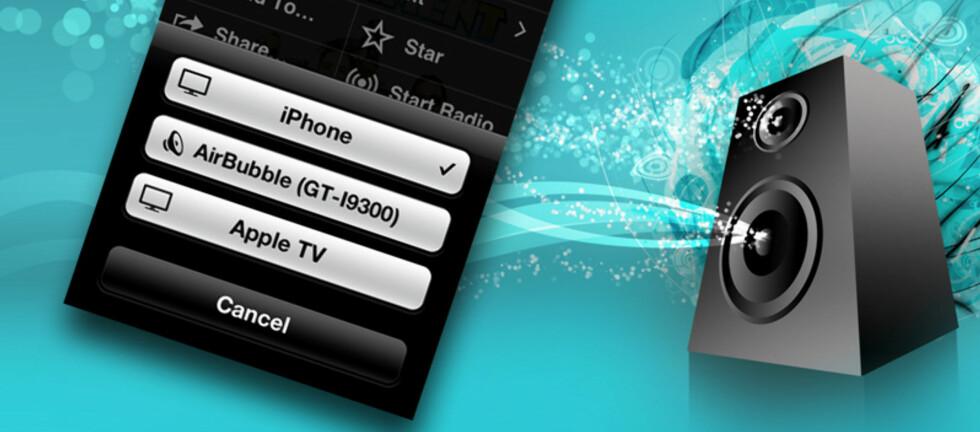 Du MÅ ikke ha en forsterker med AirPlay eller AppleTV for å sende musikk trådløst hjemme.