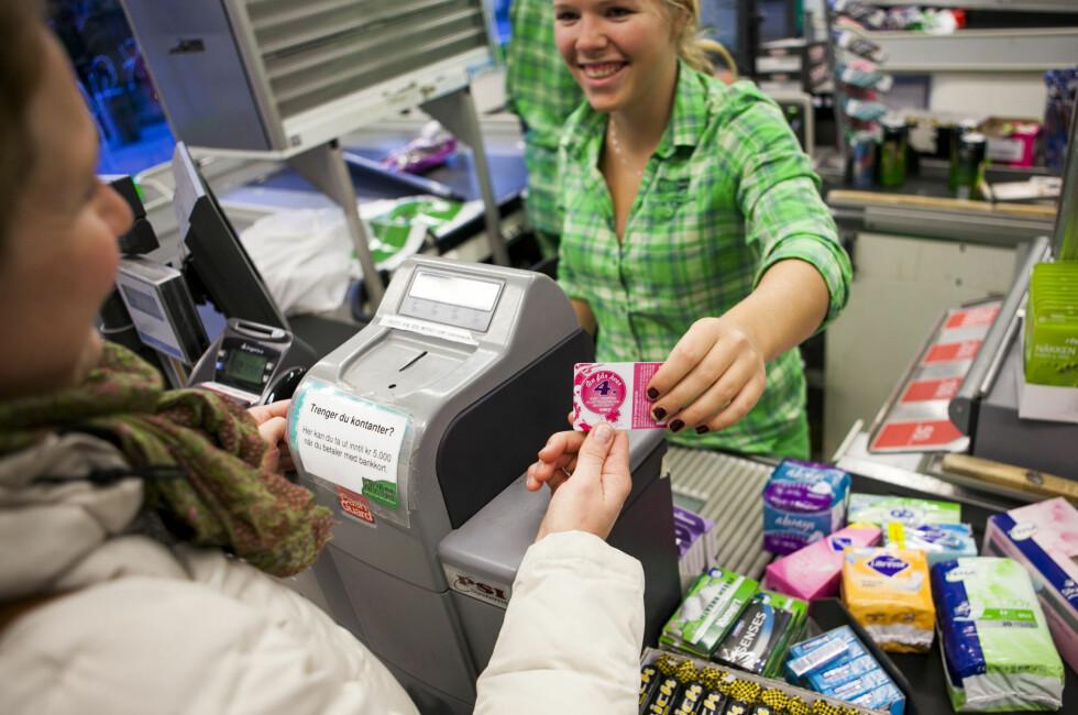 KIWI gir hver fjerde pakke med tamponger, bind, truseinnlegg og inkontinensbind gratis. Er det Norges flaueste rabattavtale? Foto: Per Ervland