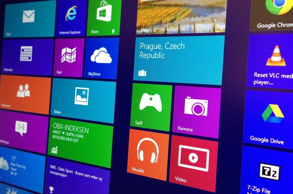 Den kanskje største nyheten i Windows 8 er det nye Modern UI-grensesnittet. Foto: Bjørn Eirik Loftås
