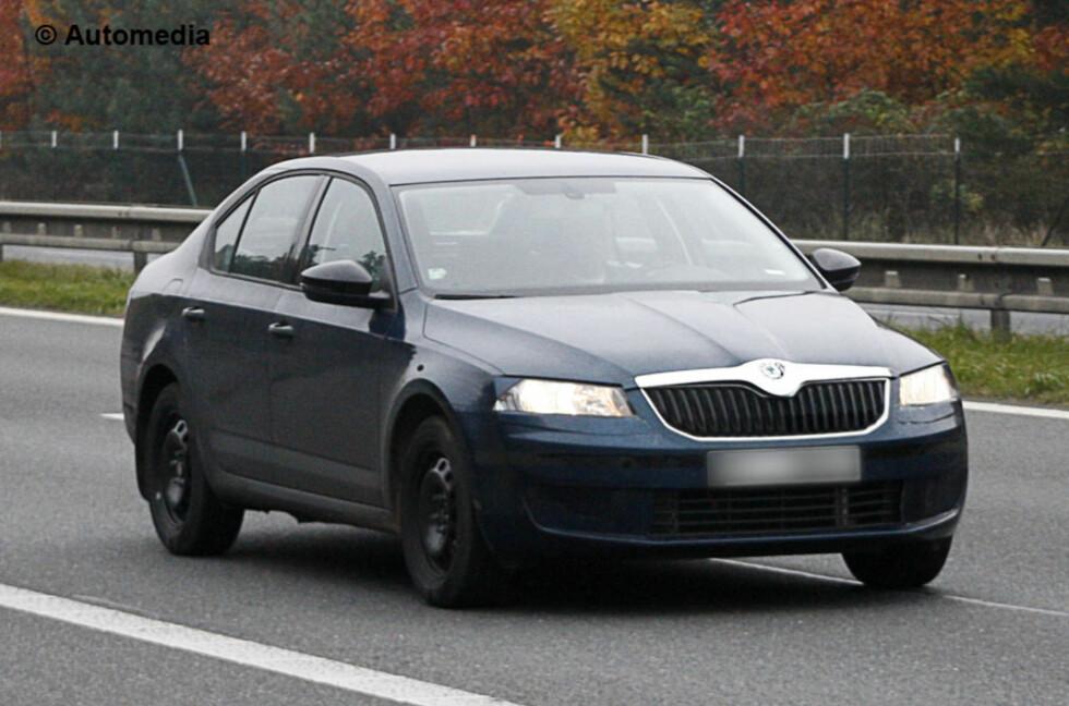 Nye Skoda Octavia skal ifølge våre eksperter bli hele 480 centimeter lang - altså snakker vi VW Passat/Ford Mondeo-størrelse. Forgjengeren befant seg et sted mellom Golf og Passat i utvendig størrelse. Foto: Automedia
