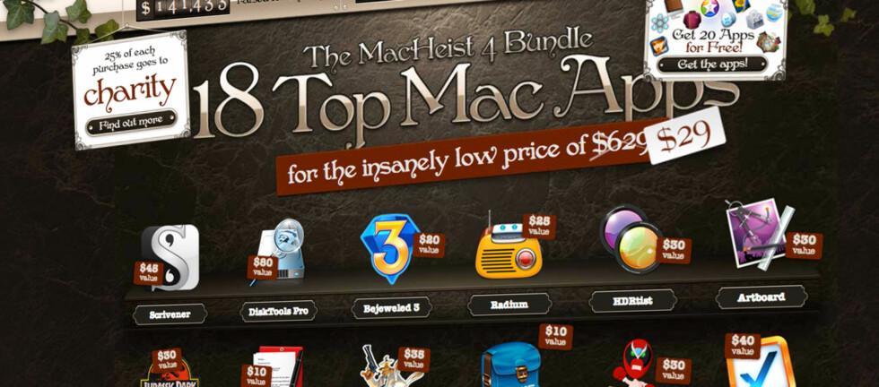 Årets MacHeist-pakke gir deg 18 Mac-apper med over 95% rabatt i forhold til vanlig utsalgspris.