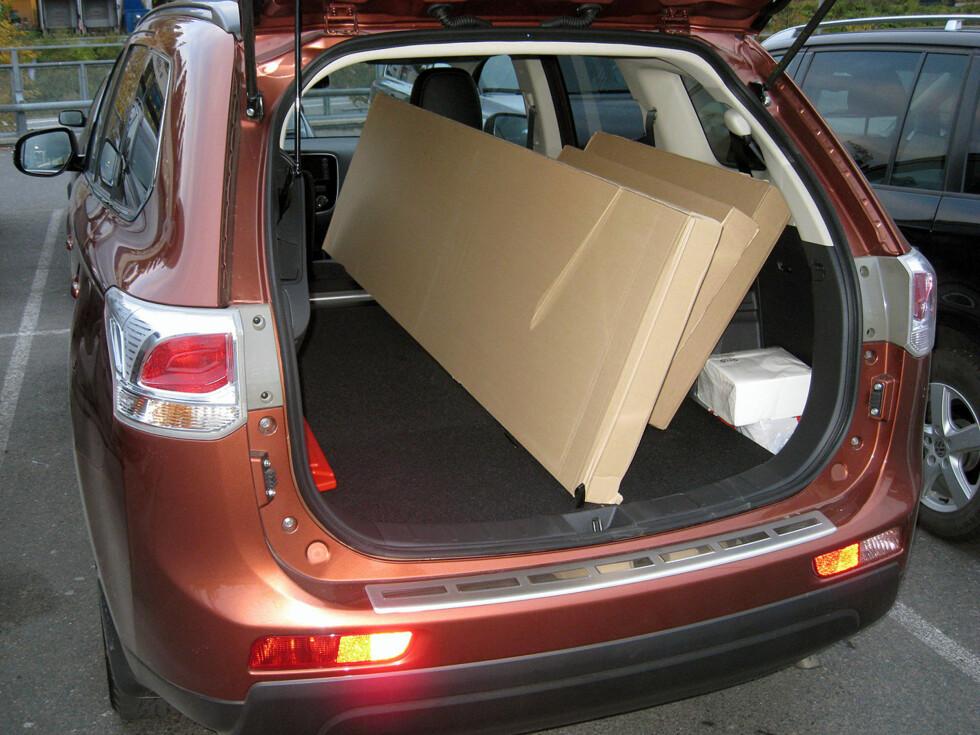 LANG: Hele 185 centimeter til rådighet i lasterommet. HVa da med førerplassen?  Foto: Knut Moberg
