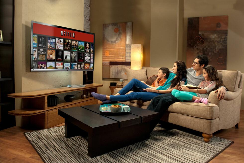 <strong>OGSÅ I NORGE:</strong> Nå kan norske familier for første gang benke seg ned foran Netflix-skjermen.  Foto: Netflix
