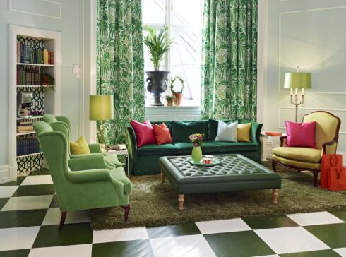 Hjemmeferierende velger ofte større rom eller suiter, ifølge Hasselberg. Her er bilde fra Grand Hotels nye suite som er innredet av fargehandelkjeden Fargerike.  Foto: Sveinung Bråthen/Fargerike