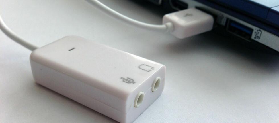 Et USB-lydkort kan redde deg dersom lyden på PC-en ikke fungerer lenger. Det er dessuten latterlig billig. Foto: Bjørn Eirik Loftås