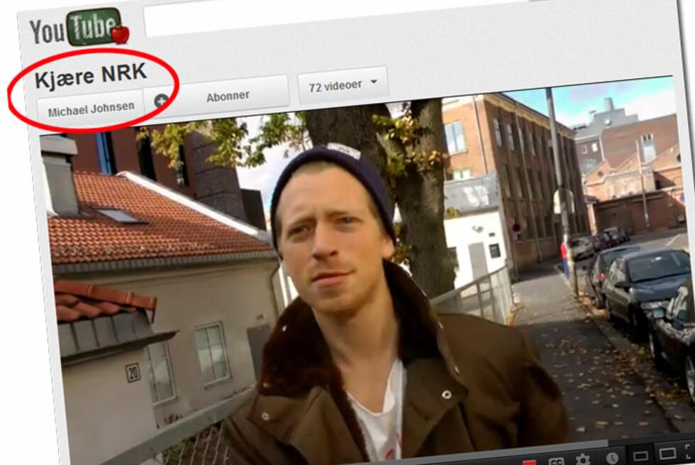 Michael Johnsen trår til skikkelig i sin videosøknad til NRK P3. Foto: Tuva Moflag