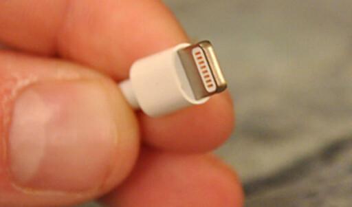 Den nye ladekabelen er omtrent på størrelse med micro USB og kan plugges i begge veier.