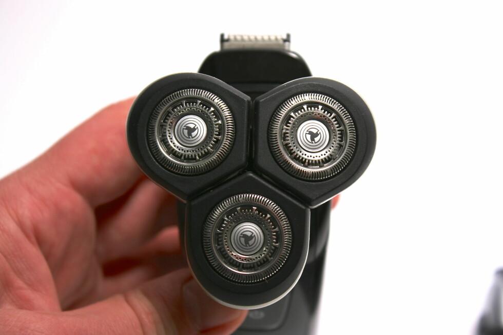 KJENT PRINSIPP: Denne har vi sett før, selv om de tre roterende kutterne nå er ekstremt fleksible og bevegelige mens du barberer deg.