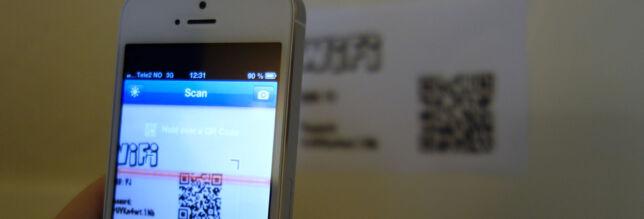image: Slik deler du WiFi med QR-kode