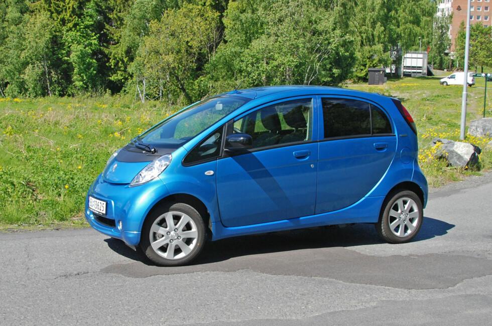El-bilen Peugeot iOn er an av de ti mest støyende bilene i den britiske undersøkelsen. Foto: Cato Steinsvåg