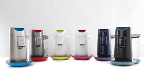 Senseo Twist kommer i en rekke nye farger. Den er også den eneste maskinen som lager to kopper samtidig.  Foto: Senseo