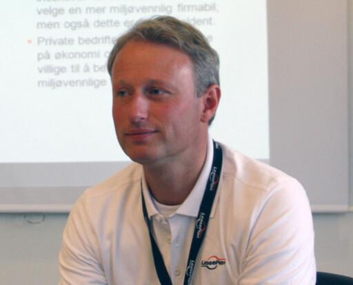 Det er markedsdirektør Marius Paus (bildet) som presenterer de siste resultatene fra LeasePlans verdifall-analyse. Foto: Knut Moberg
