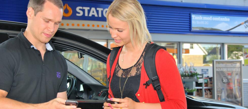 HAR DU LEDIG PLASS ELLER TRENGER HAIK? Statoil i Danmark satser nytt med en ny type tjeneste, når de lanserer sin samkjørings-app. Statoil i Norge vil se hvordan det går i Danmark først, men sier det er en god idé, og at de vil vurdere det samme her til lands dersom det lykkes i Danmark. Foto: Statoil