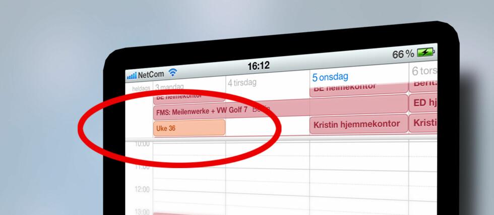 FØLGER IKKE MED: Apple har i løpet av fem store systemoppdateringer ikke inkludert ukenummer i sin kalender. Vi viser deg hvordan det gjøres.