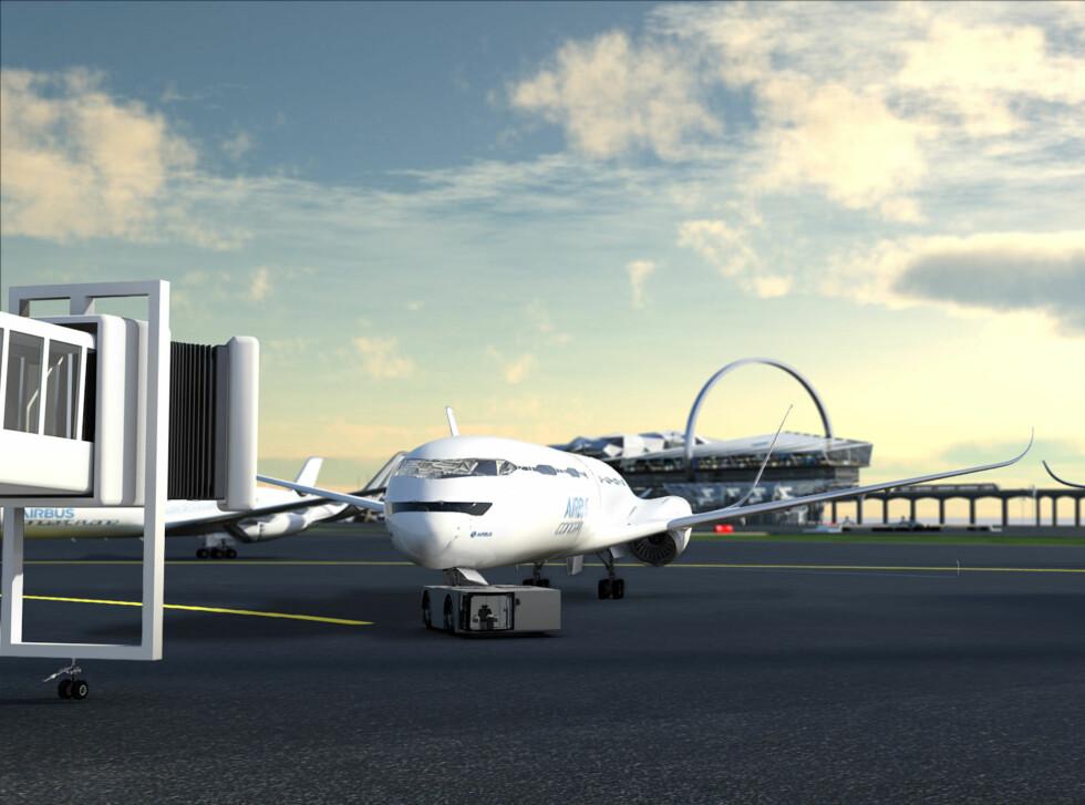 Airbus tenker seg også at bakkehåndteringen kan bli mer effektiv. Foto: Airbus