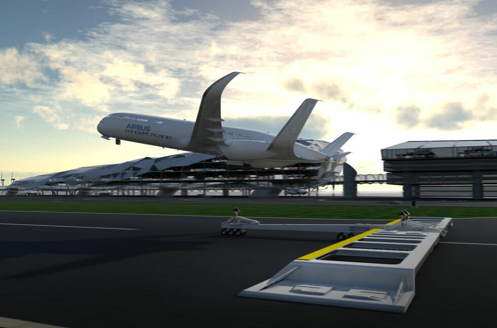 Bratt avgang med ekstrahjelp i avgangsfasen kan kreve kortere rullebaner og få flyet raskere opp i marsjhøyde. Foto: Airbus