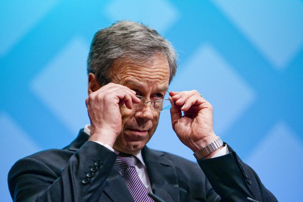 Er det en renteøkning sentralbanksjef Øystein Olsen ser der fremme? Foto: PER ERVLAND