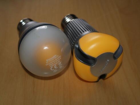 To varianter LED-lyspærer fra Philips. Foto: Berit B. Njarga