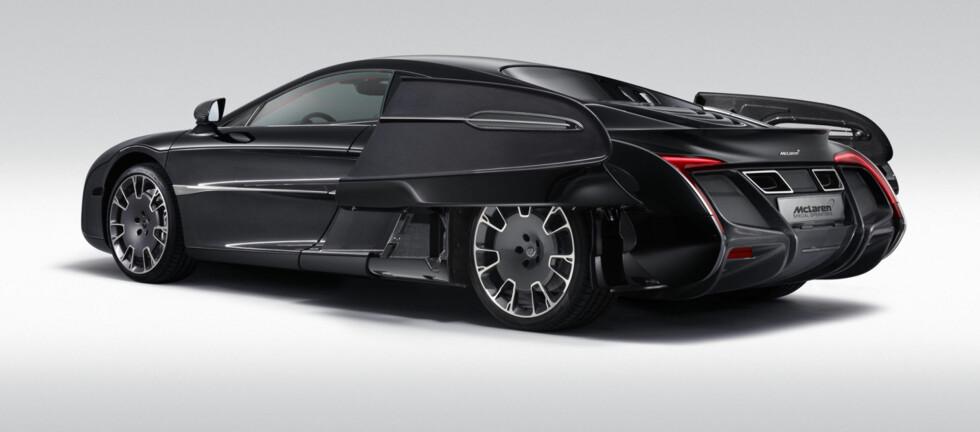 HELT UNIK: X-1 fra McLaren er oppfyllelsen av en bilentusiasts drøm. Her er det ikke spart på noe. Foto: McLaren