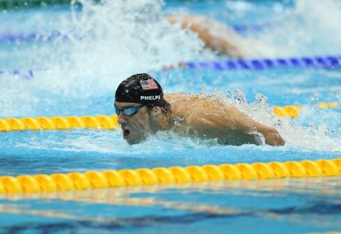 <strong><B>GIKK I OPPTAK:</strong></B> Amerikanerne fikk ikke se Michael Phelps vinne OL-gull på direkten. Likevel ble det satt TV-rekord. Foto: All Over Press
