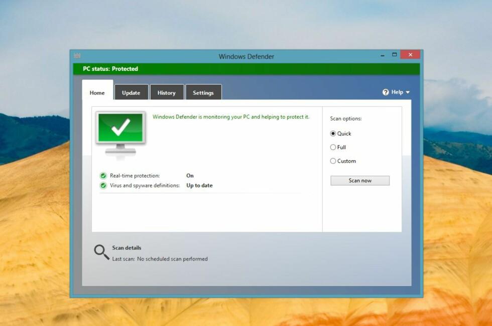 Microsofts egen sikkerhetspakke Defender sørger for god, generell sikkerhet i Windows. Foto: Bjørn Eirik Loftås