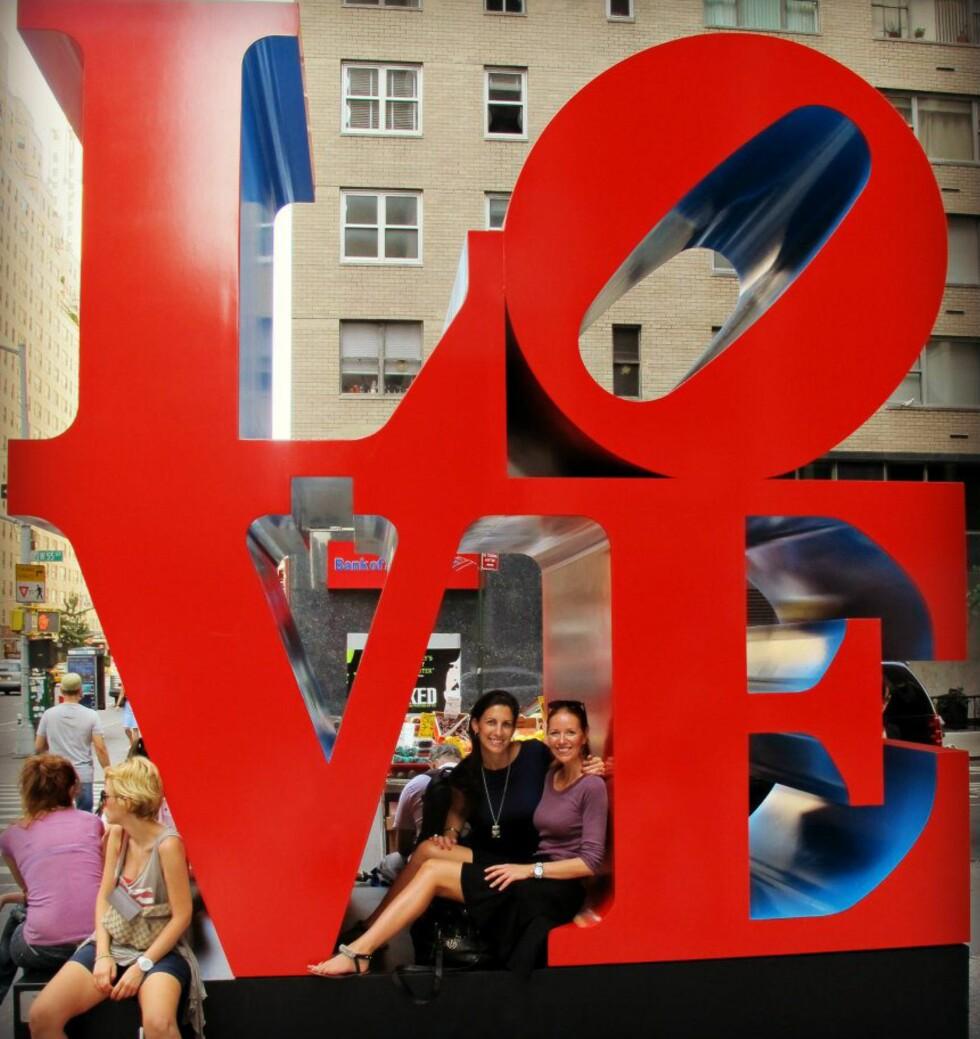 Ja, vi elsker New York, sier Mayliss og Huenu. Foto: Privat/Hueno Solsona og Mayliss Blix