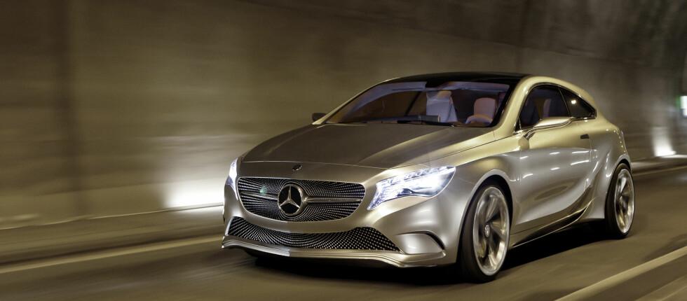 Før en bil kommer på gata får vi ofte se dem som konseptbiler. Her i form av konseptbilen som dannet grunnlag for nye A-Klassen.