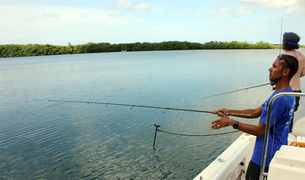 Hollandske Tjimen fra Melina Fishing Charters prøvde selv fiskelykken. Foto: Silje Ulveseth