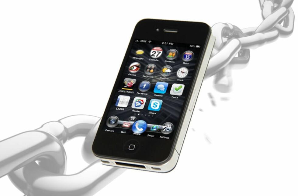 Å jailbreake en iPhone gjør det ikke bare mulig å endre på start-skjermen, men også å spille piratkopierte spill. Det er blitt et problem for spillutvikleren Gameized. Foto: DinSide