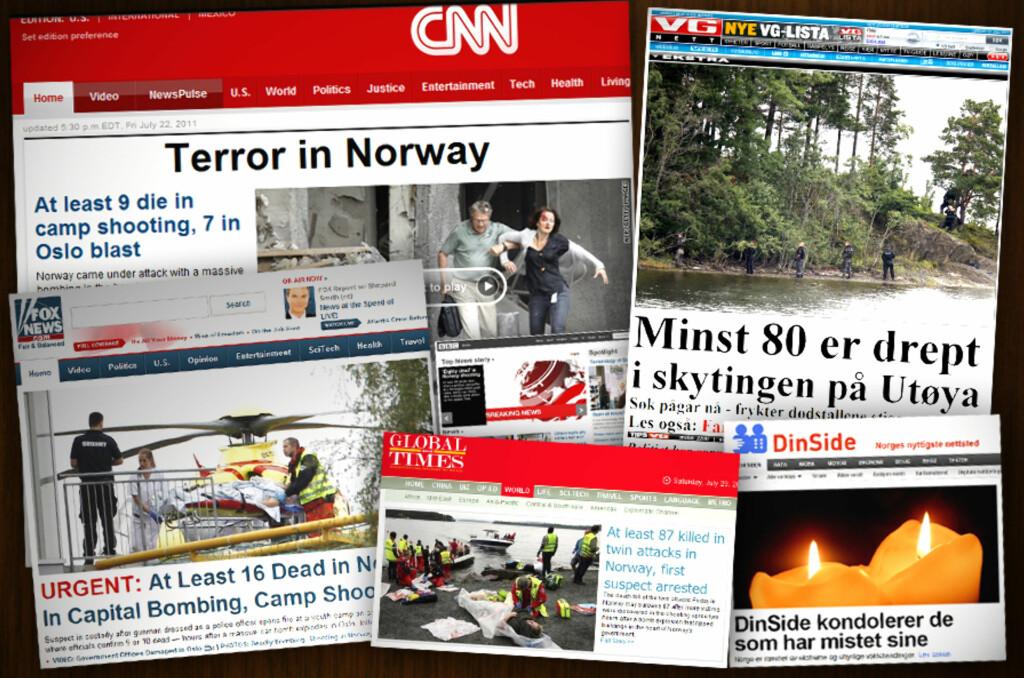 <B>FORTSATT TILGJENGELIG:</B> Ønsker du å se hvordan verdens avisforsider så ut etter terroren 22. juli 2011 ligger mye av det lagret på nettet.  Foto: OLE PETTER BAUGERØD STOKKE