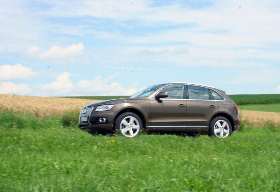 Audi Q5 er ikke blitt radikalt endret utseendemessig, men er blitt litt bedre på mye. Litt mer komfortabel, mer nøysom og samtidig noe sterkere enn tidligere. En vellykket fornyelse. Foto: Knut Moberg
