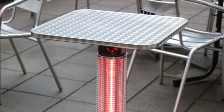 Hot Table: Utebord som varmer