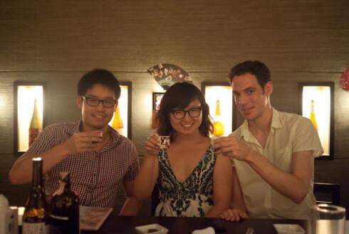 De tre skaperne av Nomiku, Bam, Q and Abe.  Foto: Q and Abe